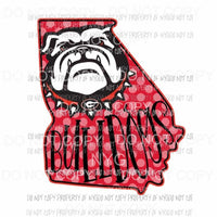 Georgia Bulldogs state Sublimation transfers Heat Transfer