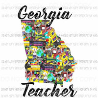 Georgia Teacher 2 Sublimation transfers Heat Transfer