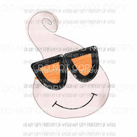 Ghost with glasses Halloween Fall Sublimation transfers Heat Transfer