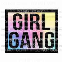 Girl Gang #3 pastel Sublimation transfers Heat Transfer