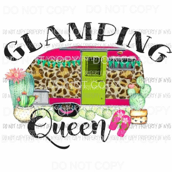 Glamping Queen Sublimation transfers Heat Transfer