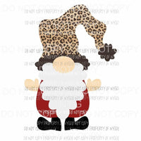 Gnome Santa leopard hat # 4 Sublimation transfers Heat Transfer