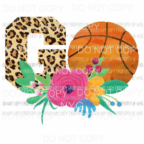 Go Basketball Sublimation transfers Heat Transfer