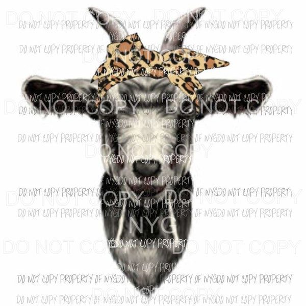Goat Bandanna 1 Sublimation transfers Heat Transfer