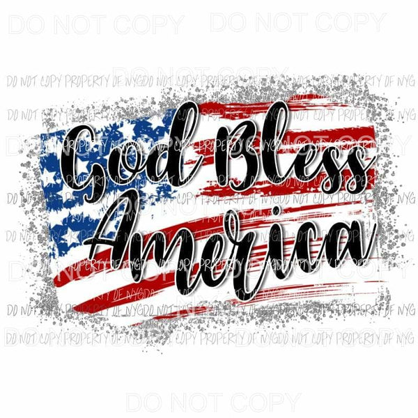 God Bless America Sublimation transfers Heat Transfer
