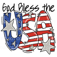 God Bless the USA # 4 Sublimation transfers - Heat Transfer