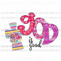 God is good 3 cross Sublimation transfers Heat Transfer