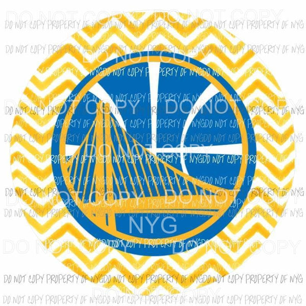 Golden State Warriors chevron circle Sublimation transfers Heat Transfer