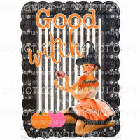 Good Witch pumpkins pinup girl Halloween Sublimation transfers Heat Transfer