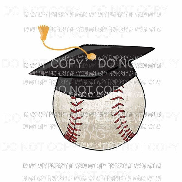 Graduate Baseball black cap Sublimation transfers Heat Transfer
