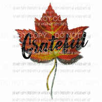 Grateful leaf 1 Sublimation transfers Heat Transfer