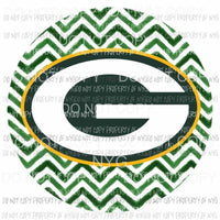 Green Bay Packers chevron circle Sublimation transfers Heat Transfer