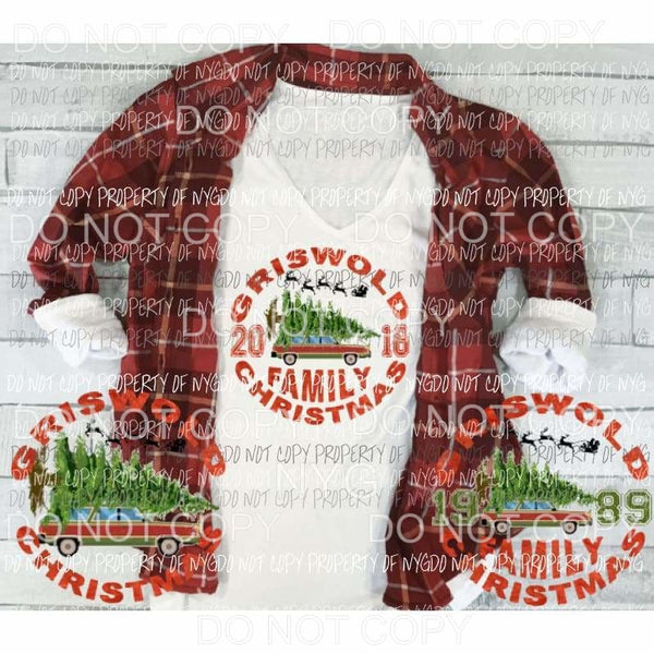 Griswald Christmas Sublimation transfers Heat Transfer