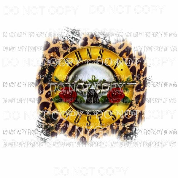 Guns N Roses leopard Sublimation transfers Heat Transfer