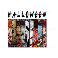 Halloween friends horror Sublimation transfers - Heat
