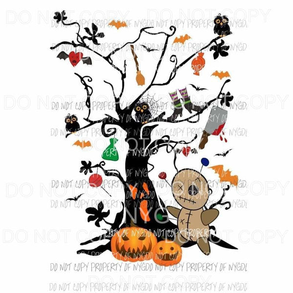 Halloween tree Trick or treat Sublimation transfers Heat Transfer