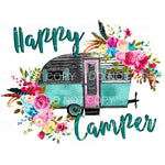 Happy Camper # 7 Sublimation transfers - Heat Transfer
