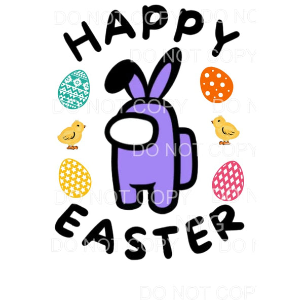 Happy Easter Among Us Purple Sublimation transfers - Heat