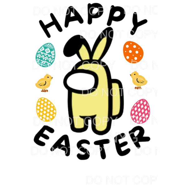Happy Easter Among Us Yellow Sublimation transfers - Heat