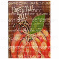 Happy Fall Painting 2 Sublimation transfers Heat Transfer