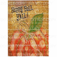 Happy Fall Painting 3 Sublimation transfers Heat Transfer