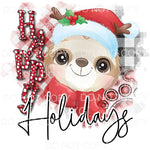 Happy Howlidays Christmas Sloth Sublimation transfers - Heat