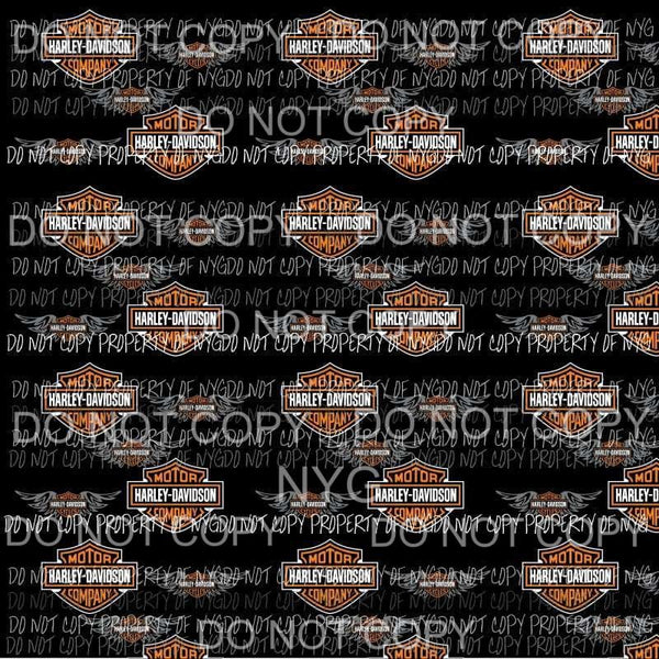 Harley Davidson Logo Sheet Sublimation transfers 13 x 9 inches Heat Transfer