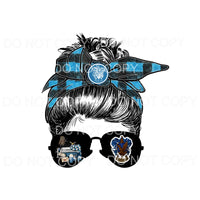 Harry Potter BLUE Messy Bun HP Sublimation transfers - Heat
