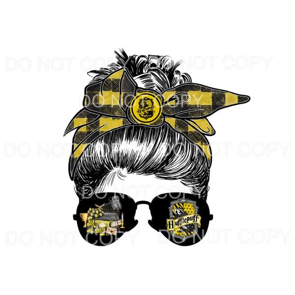 Harry Potter YELLOW Messy Bun HP Sublimation transfers -