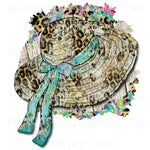 Hat Bow Leopard Frame Sublimation transfers - Heat Transfer