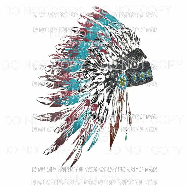 Head Dress # 335 Sublimation transfers Heat Transfer