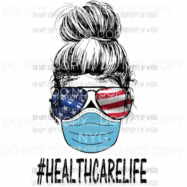 # HEALTH CARE Life Skull FLAG Sublimation transfers Heat Transfer