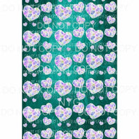 Heart Background Sheet #1 Sublimation transfers 13 x 9 inches Heat Transfer