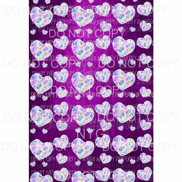 Heart Background Sheet #2 Sublimation transfers 13 x 9 inches Heat Transfer