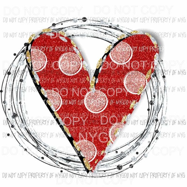 Heart Polka Dot Sublimation transfers Valentines day Love Heat Transfer