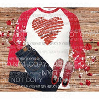 Heart red sublimation Transfer Heat Transfer