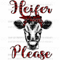 Heifer Please Plaid Sublimation transfers Heat Transfer
