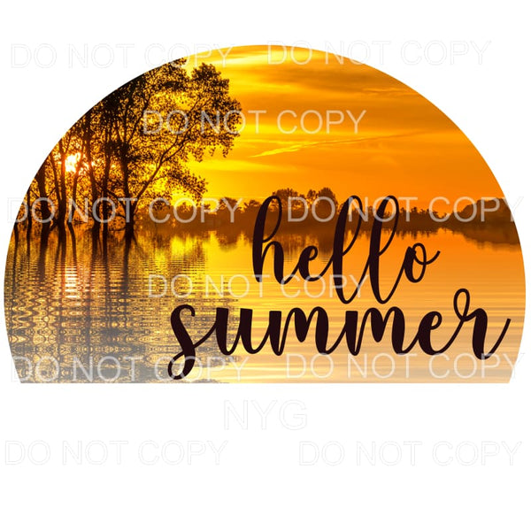Hello Summer Sublimation transfers - Heat Transfer