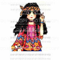 Hippie girl 1 Sublimation transfers Heat Transfer