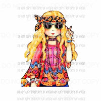 Hippie girl 3 Sublimation transfers Heat Transfer