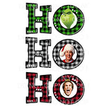 HO HO HO PLAID grinch clark elf # 2 Sublimation transfers -