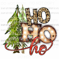 Ho Ho Ho Trees T - Shirt Heat Transfer