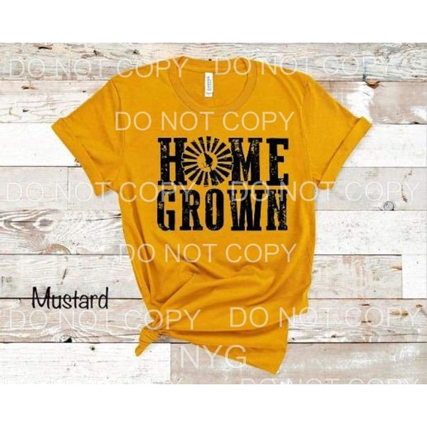 Home Grown Black SCREEN PRINT can go on any shirt - adult