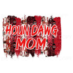 Houn Dawg Baseball Mom Red Sublimation transfers - Heat