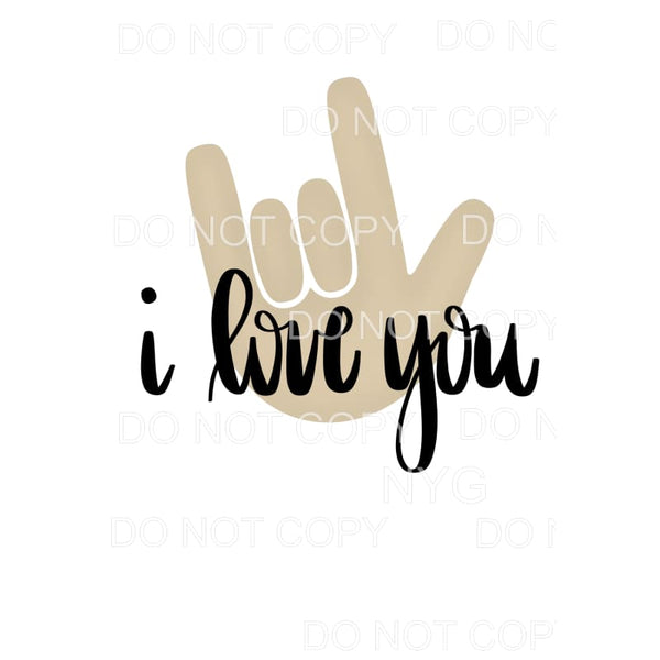 I Love You Sign Language Sublimation transfers - Heat