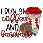 I Run On Coffee And Baseball Leopard Cup Glove Sublimation