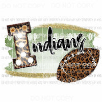 Indians football field leopard Sublimation transfers Heat Transfer