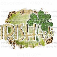 Irish-ish gold green shamrock leopard Sublimation transfers Heat Transfer