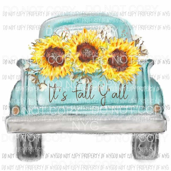 its fall yall sunflower truck 5 Sublimation transfers Heat Transfer