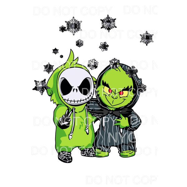 Jack and Grinch Babies Sublimation transfers - Heat Transfer
